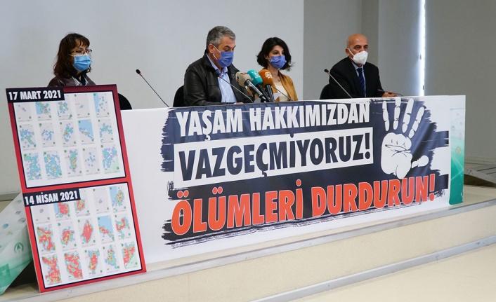 """Bursalı tabipler uyardı: """"Sorumluluk vatandaşta değil, hükümettedir"""""""