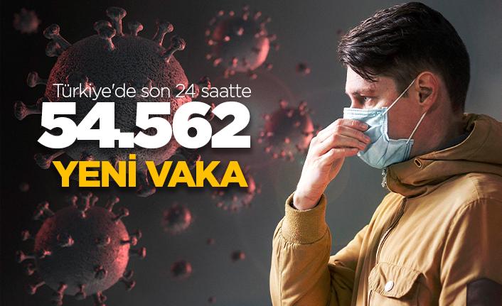 Türkiye'de son 24 saatte 54.562 yeni vaka!