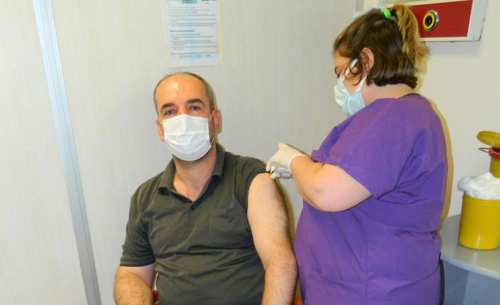 Bursa Mudanya esnafı 'sağlık' için kolları sıvadı