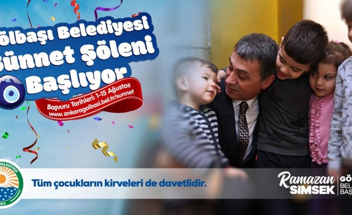Ankara Gölbaşı Belediyesi sünnet şöleni için kayıtlara başladı