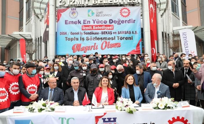 İzmit Belediyesi'nden maaşı düşen işçilerine destek