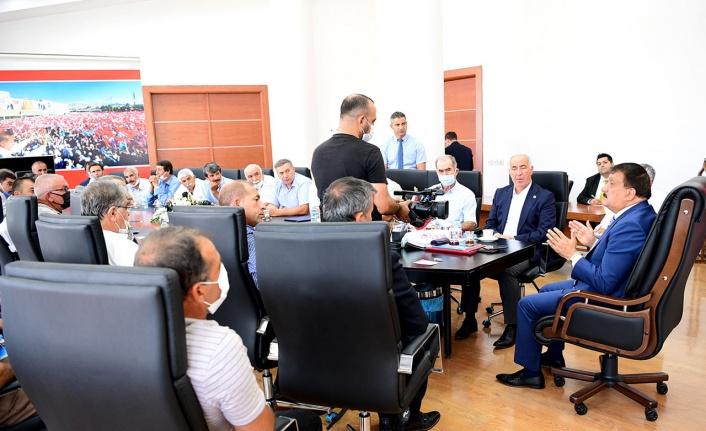 Malatya'da Hekimhan muhtarlarından Büyükşehir'e teşekkür ziyareti