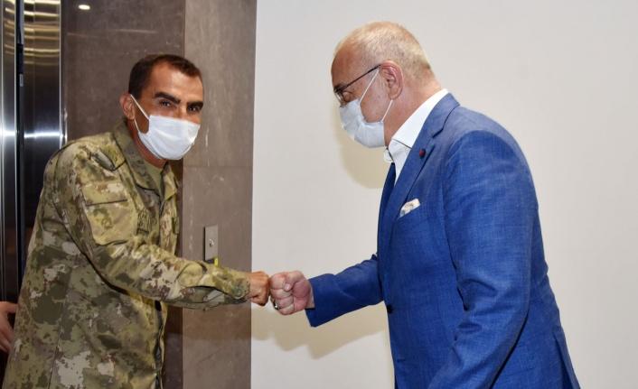 Manisa'da Tugay Komutanı'ndan Başkan Ergün'e ziyaret