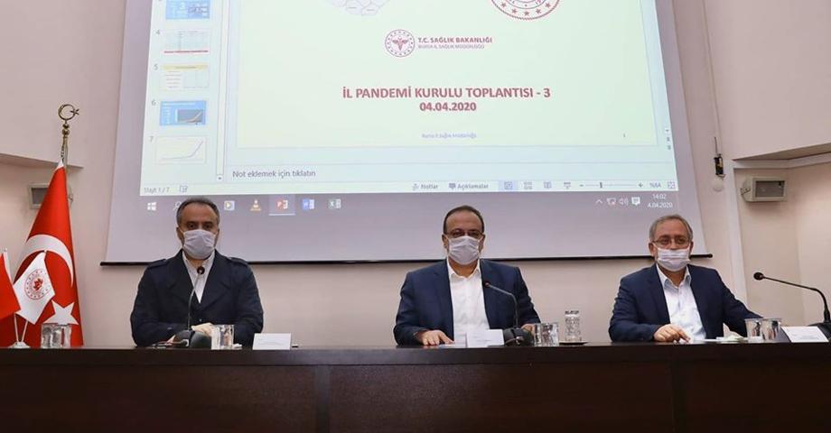 Bursa Valisi Canbolat İl Hıfzıssıhha Kurul Kararı'nı duyurdu