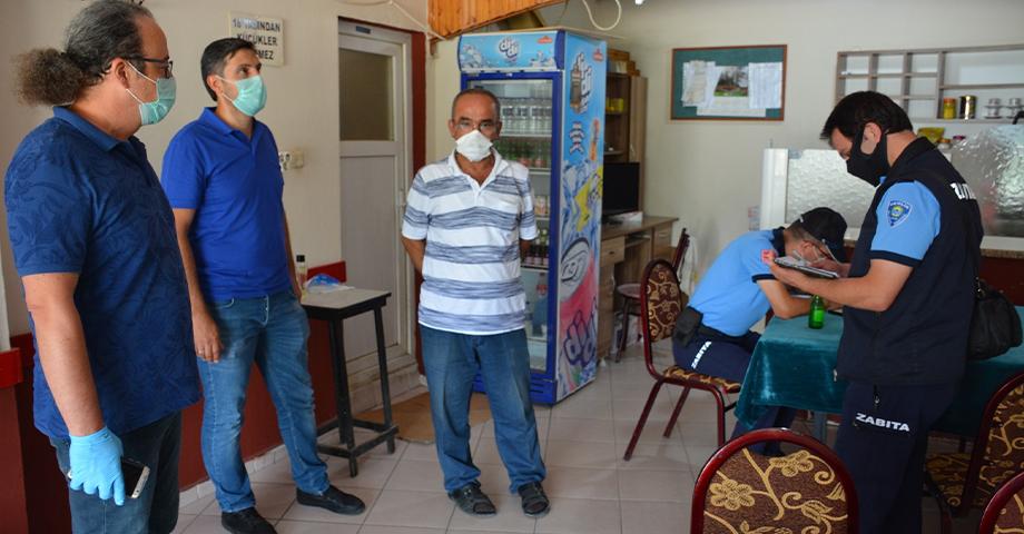 Belediyenin koronavirüs denetimleri sürüyor