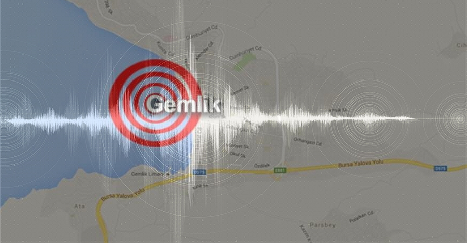 Gemlik 2 depremle sallandı.!