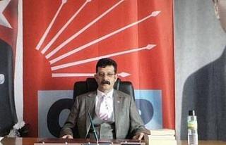 Denizli Çivril'de CHP'den iktidara pankart...