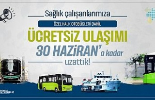 Kocaeli'nde sağlıkçılara ücretsiz ulaşım...