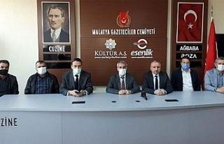 Malatya'da Kızılay'dan gazetecilere ziyaret