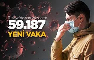 Türkiye'de son 24 saatte 59.187 yeni vaka!