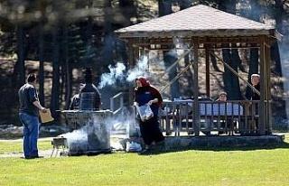Bursa'da tüm piknik alanlarında ateş yakılması...