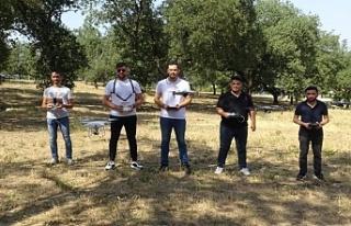 Bursalı drone pilotları gönüllü olarak ormanları...