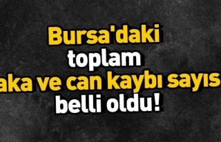 Bursa'da koronvirüste toplam vaka ve can kaybı sayısı...