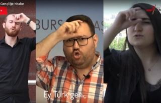 CHP'li Gençlerden İşaret Diliyle 'Gençliğe Hitabe'...