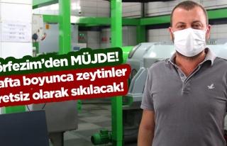 Körfezim Zeytinyağı Fabrikasından Ücretsiz Sıkım...