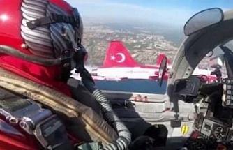 Türk Yıldızları'ndan Ampute Milli Takım'a selam