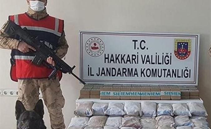 Hakkari'de 105 kilogram uyuşturucu ele geçirildi