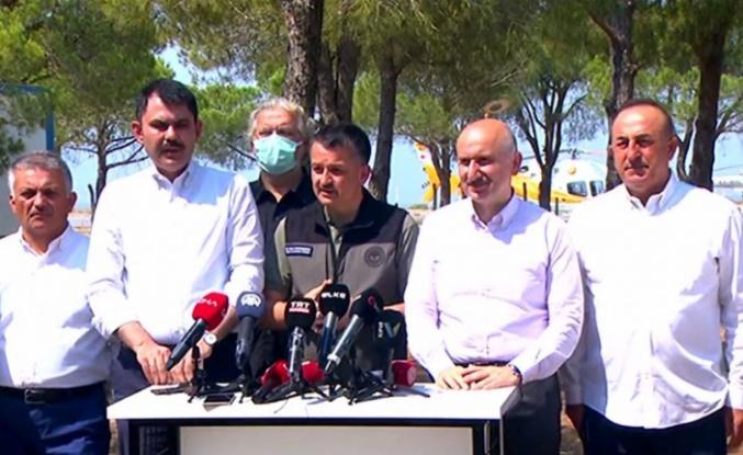 4 Bakan, Antalya'dan son durumu aktardı
