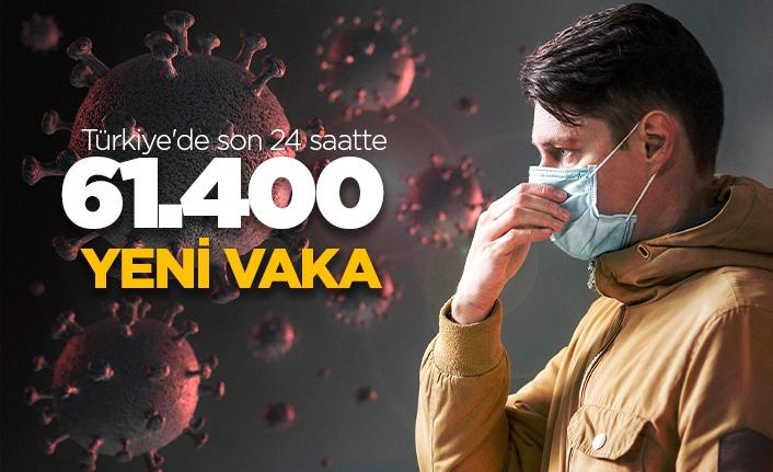 Türkiye'de son 24 saatte 61.400 yeni vaka!